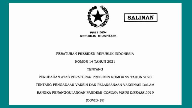 perpres peraturan presiden ri nomor 14 tahun 2021 tentang pengadaan vaksin dan pelaksanaan vaksinasi covid-19 pdf tomatalikuang.com