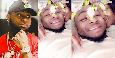 Davido shares love up photos with girlfriend, Chioma