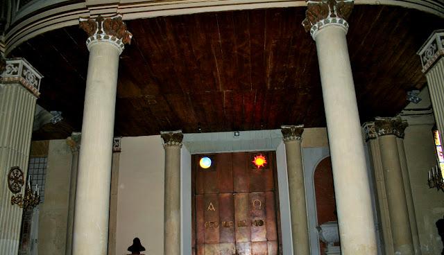 colonne, chiesa, duomo, portone, monumento