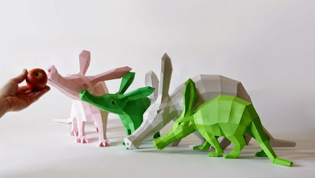 http://www.thisiscolossal.com/2014/11/diy-geometric-paper-animals-by-paperwolf/