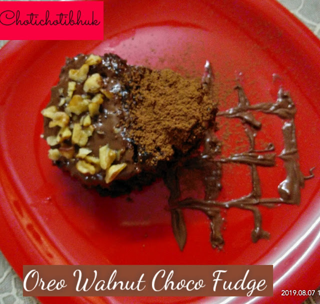 This Oreo Walnut Choco Fudge is a chocolate cake .This recipe is quick no hussle of measurement.Just crush and bake