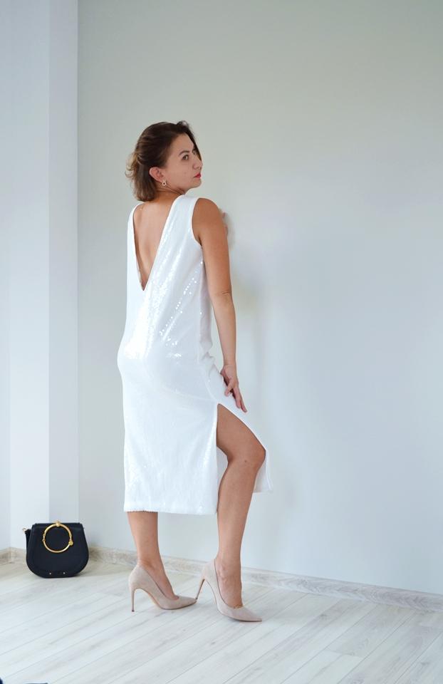 moda;fashion;jesienna stylizacja,Letnia wyprzedaż Reserved;Letnia Wyprzedaż;Cekinowa sukienka Reserved;blog modowy Wrocław;blogerka modowa 40+;kobieta 40+,wyprzedażowe łupy,
