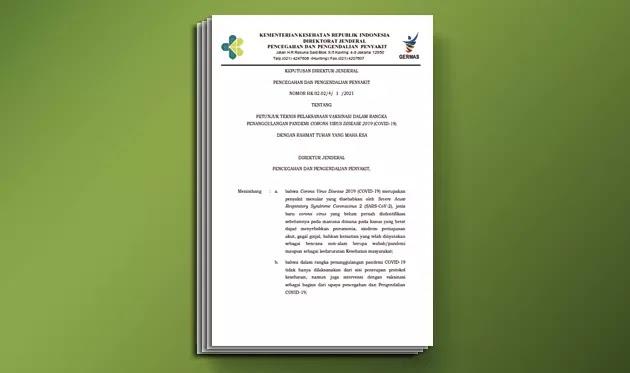 Juknis Vaksinasi Dalam Rangka Penanggulangan Pandemi Covid-19 (Corona Virus Disease 2019)