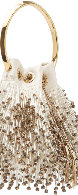 Jimmy Choo Bon Bon Beaded Satin Bag #brilliantluxury
