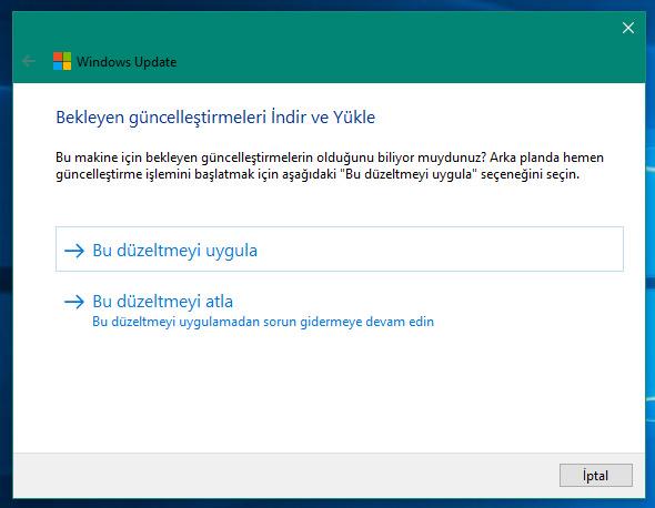 windows 10 güncelleme aracı