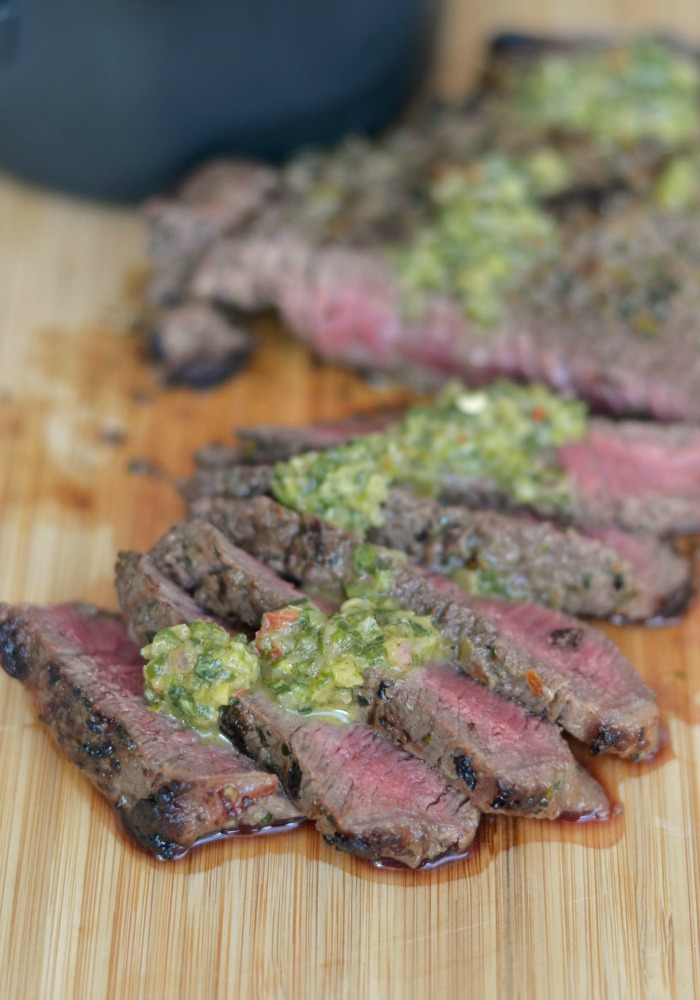 BBQ Steak with Zesty Watercress Salsa