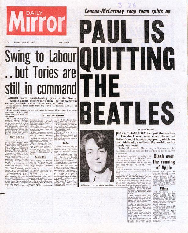 ポール・マッカートニー ビートルズ脱退(?)50周年
