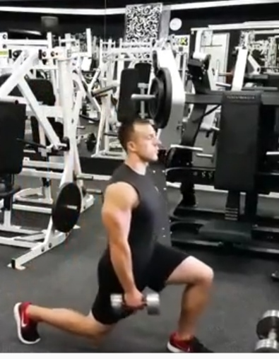 Dumbbell lunges exercise