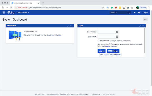 Jira  ready for passwordless login with FIDO2