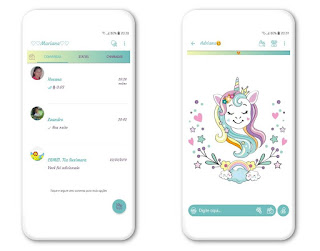 Unicorn Cute Theme For YOWhatsApp & Fouad WhatsApp By Mary Silva