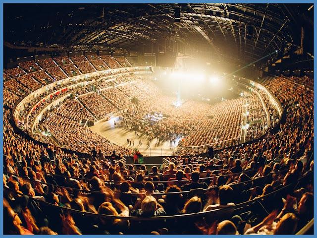 LANXESS arena former Kölnarena Köln Cologne Deutz from Lanxess arena innen