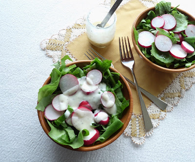 Spring Salad with Honey-Yogurt Dressing
