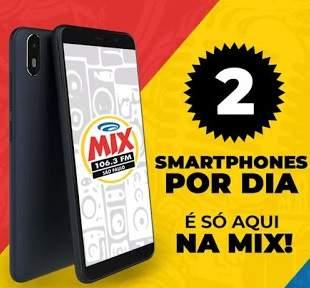 Promoção MIX FM 2 Smartphones Por Dia - Cadastro Whatsapp