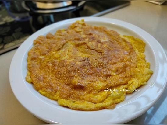 cara buat telur dadar gebu sedap