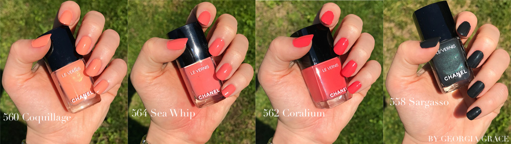 chanel summer 2017 cruise collection makeup review swatches coquillage sea whip coralium sargasso