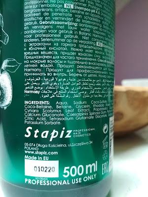 Stapiz Botanic Harmony pH 4,5 Šampón zloženie