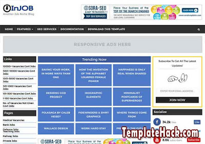 injob blogger template