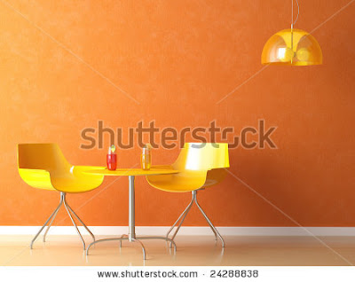 sillas amarillas para una cafetería moderna