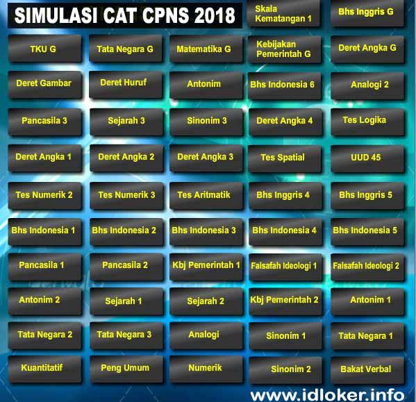 Aplikasi Simulasi CAT CPNS 2018