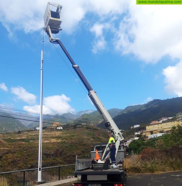 Santa Cruz de La Palma dejará de emitir 20 toneladas de CO2 al año con la nueva red lumínica