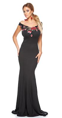 Rochie tip sirena neagra, rochie neagra pentru nunta, rochie lunga pentru nunta, rochie lunga pentru nasa, rochie tip sirena, rochie eleganta, rochie de ocazie lunga