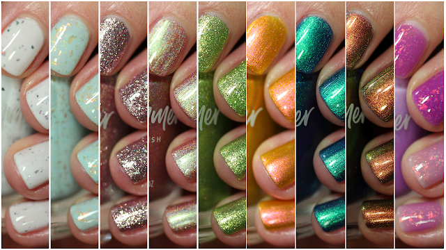 KBShimmer Beach Break Collection Swatches
