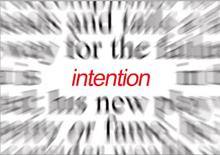working with intention
