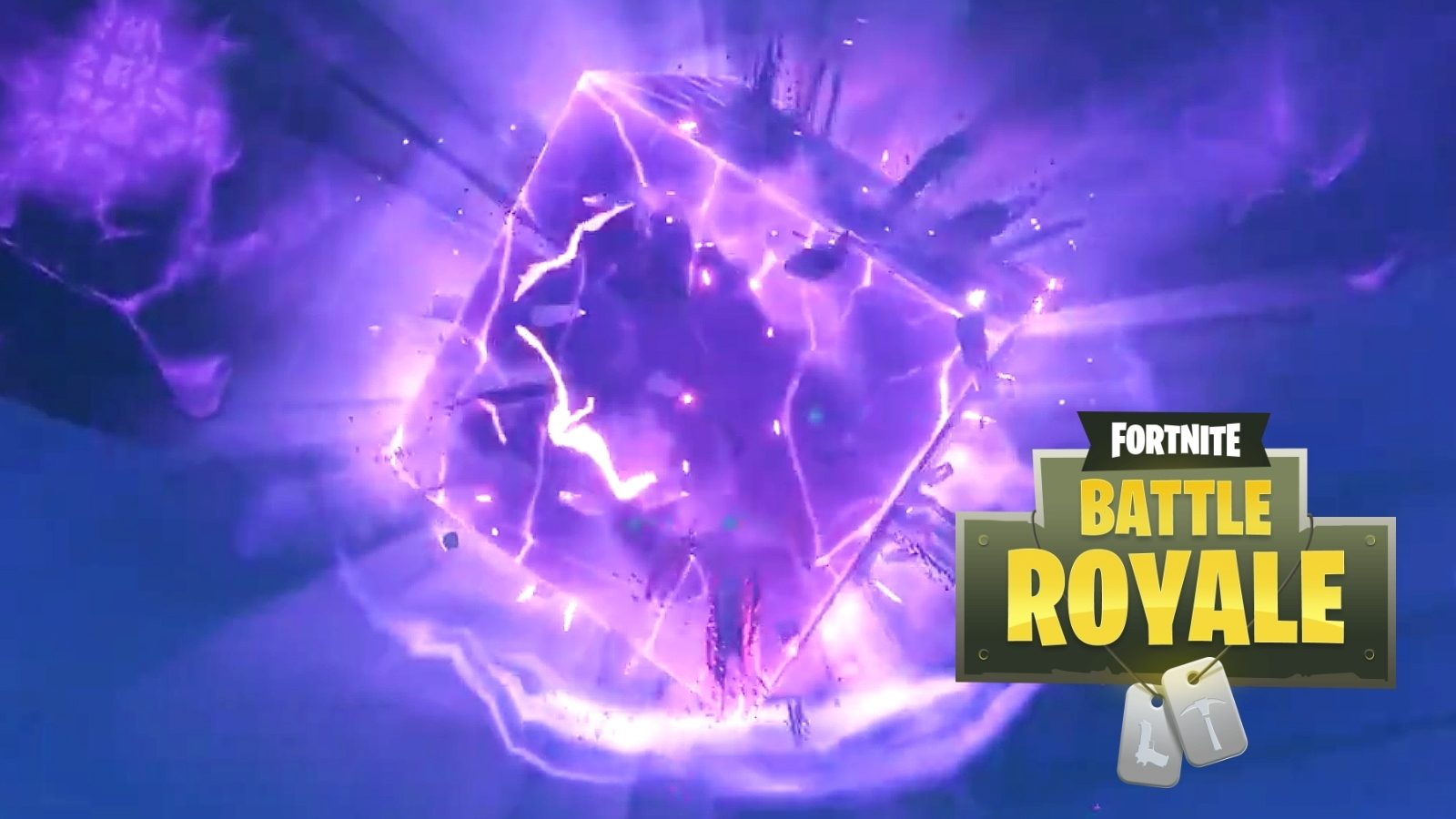 Fortnites Giant Purple Cube Disappeared New Map Location