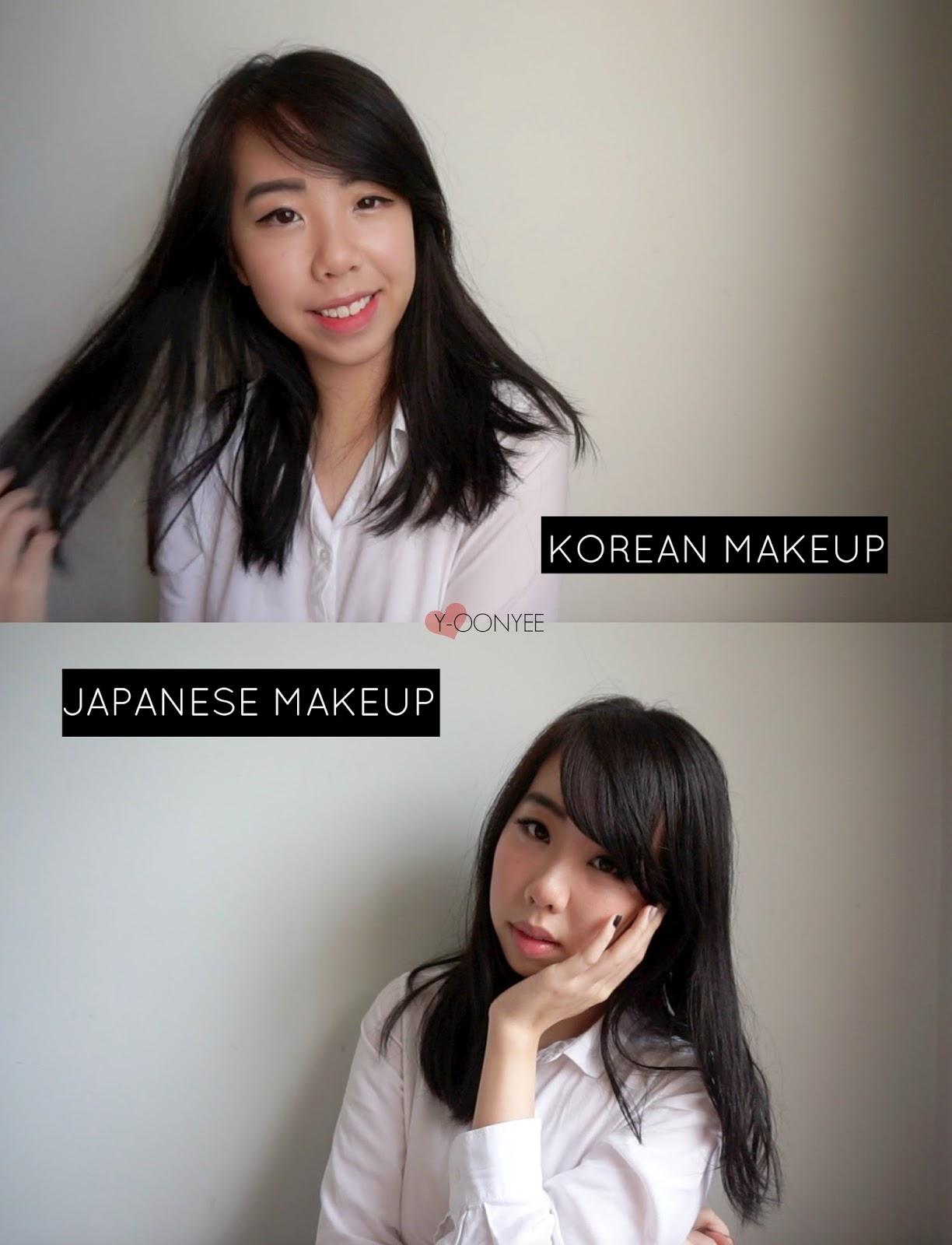 korean vs japanese makeup | before and after makeup transformation