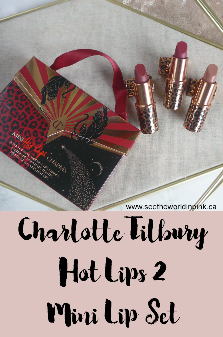 Charlotte Tilbury Hot Lips 2 Mini Lip Set - Swatches, Try-ons and Reviews!