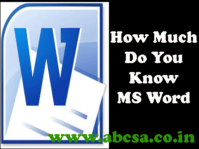 test your ms word skill online