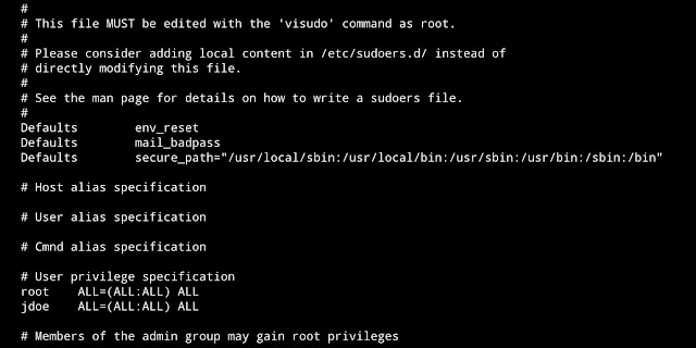 How to provide Sudo access using visudo in Linux