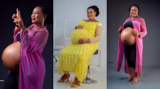 Ovy Evelyn, lady who welcomed triplet after 14 years of marriage