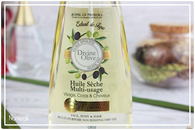 Huile sèche Divine olive de Jeanne en Provence