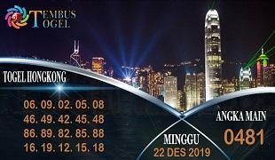 Prediksi Togel Angka Hongkong Minggu 22 Desember 2019