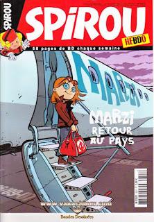 Spirou Hebdo, Marzi retour au pays , numéro 3627, année 2007