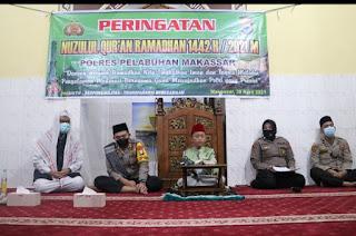 Polri Presisi, Bertakwa dan Beriman, Polres Pelabuhan Makassar gelar Malam Nuzulul Qur'an
