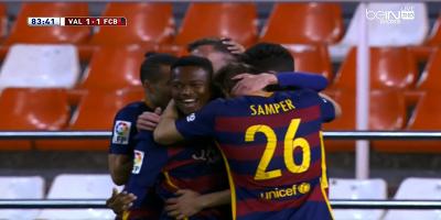 Copa Del Rey : Valencia 1 vs 1 Barcelona 10-02-2016