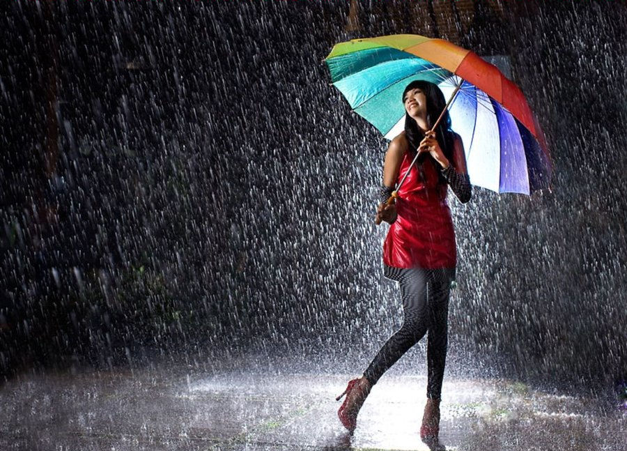 Girl Singing In The Rain