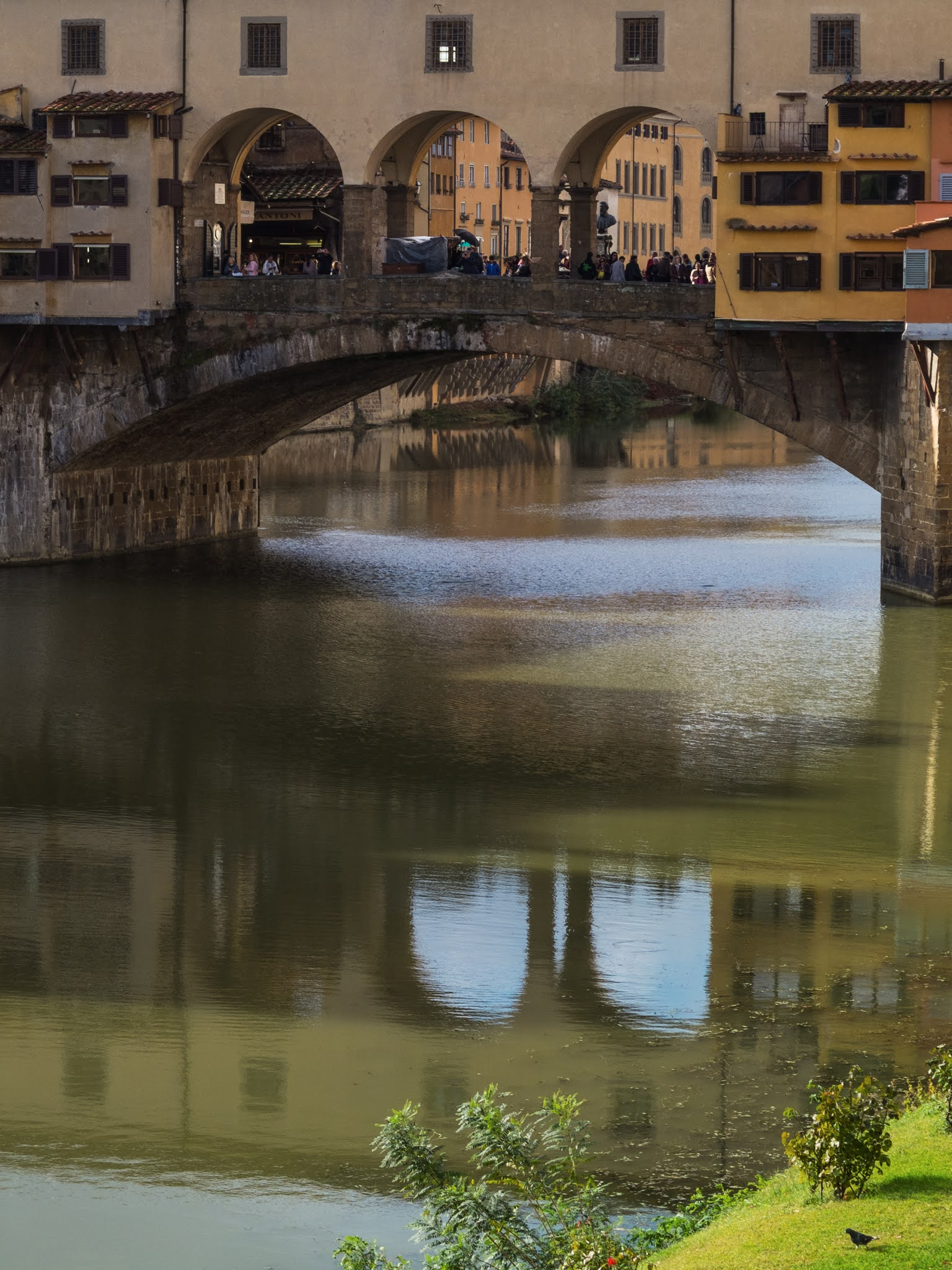 Reflection of Ponte Veccio in the river Arno.