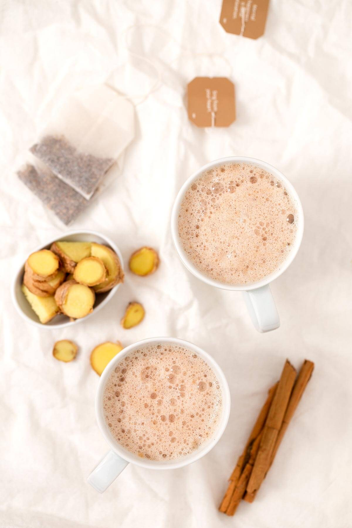 Ginger Latte. - The ginger latte is a straightforward, rich and comforting drink. It is a healthy substitute for coffee and is prepared in no time.
