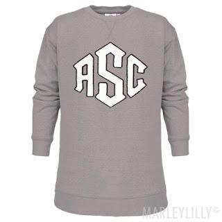 Monogrammed Letterman Sweatshirt