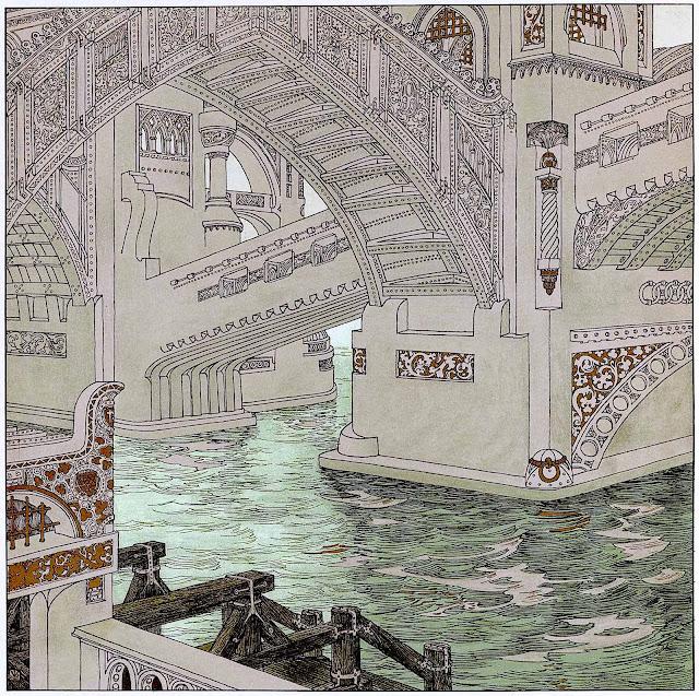 Heinrich Lefler, the underside of a bridge