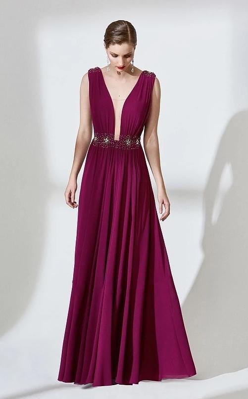 vestido de festa vinho burgundy