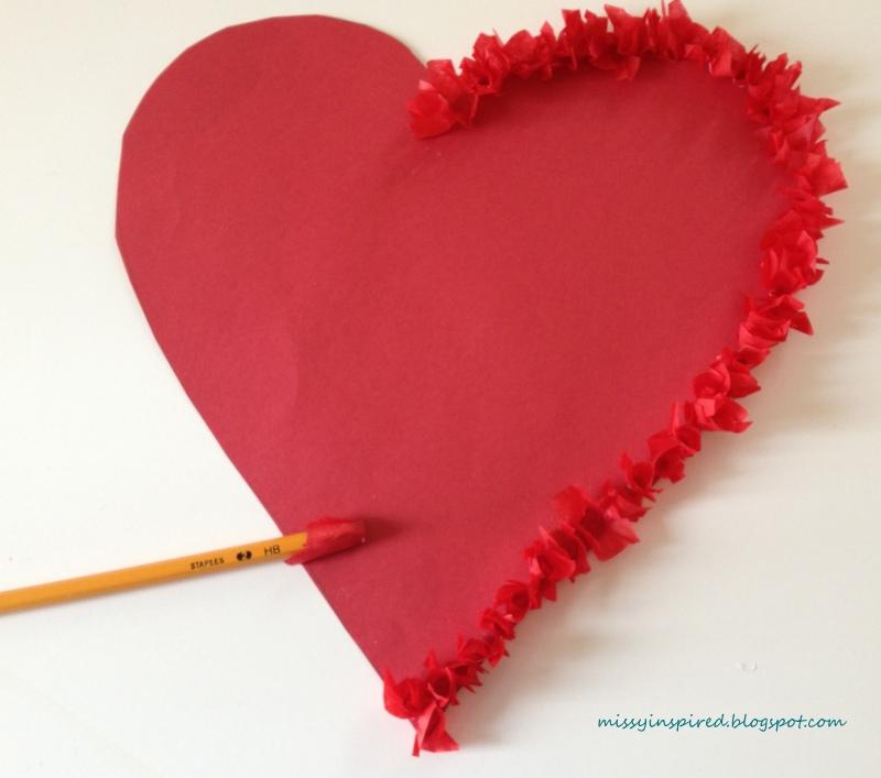 Missy Inspired: Valentine's Day Tissue Paper Heart