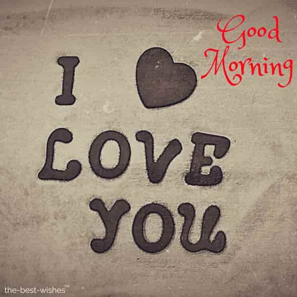 i love you with heart good morning
