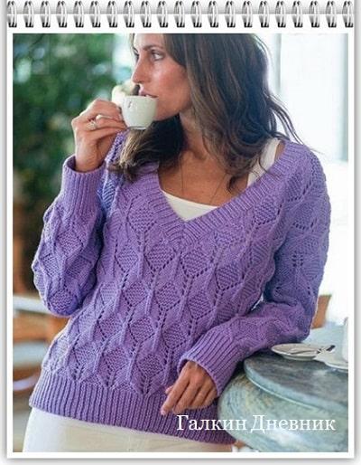 pulover-spicami-dlya-jenschin | vyazanie | toxuculuq | knitting | حياكة | vyazanne | pletivo