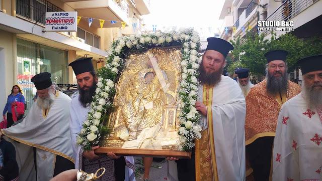 Με τιμές η υποδοχή της Θαυματουργής Ιερής Εικόνας της Παναγίας της Σηλυβριανής στο Ναύπλιο (βίντεο)