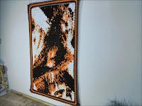 Original Fine Art Portrait Tapestry - Christ's Passion - by Jen Ten Art