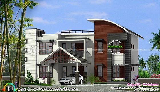 2684 sq-ft ₹56 Lakhs cost estimated modern home